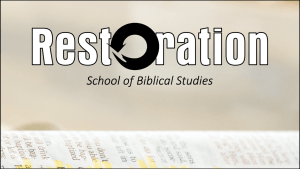 Restoration School of Biblical Studies