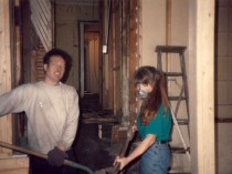 Ron and Carrie building the Cafe