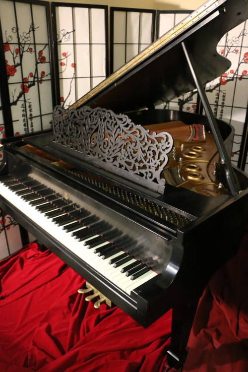 Art Case Lattice Music Desk Steinway L Grand Piano 5'10.5