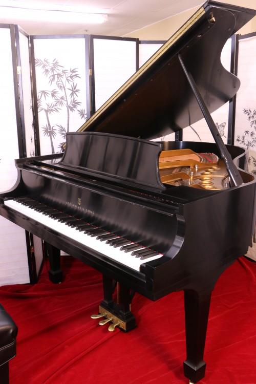 Steinway M Grand Piano 1997 Satin Ebony Showroom Condition (VIDEO) $29,500.