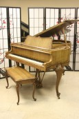 Art Case Harrington Baby Grand Piano 5' Cabriolet Legs $4500.