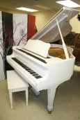 White Gloss Young Chang Grand Piano 1989 $4500.