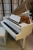 White Gloss Baby Grand Piano Kohler & Campbell  by Samick 5'8