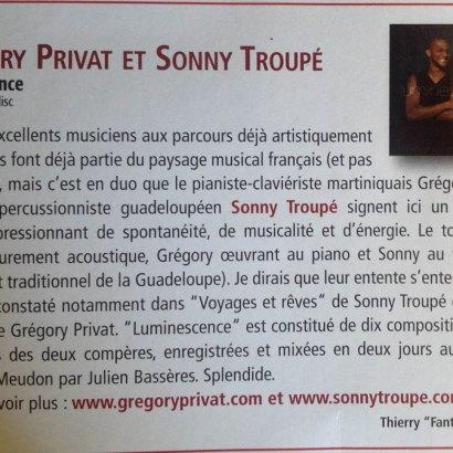 Gréory Privat et Sonny Troupé