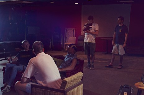 SON OF CLOWNS BAR SCENE EXTRAS WITH CINEMATOGRAPHER NED PHILLIPS