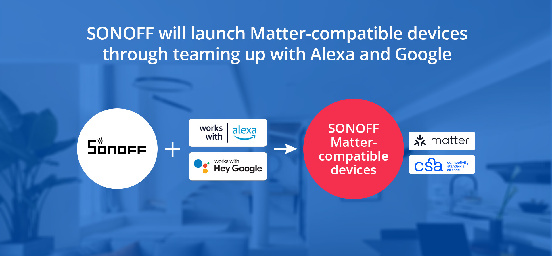 SONOFF, Alexa and Google commit to Matter Devices