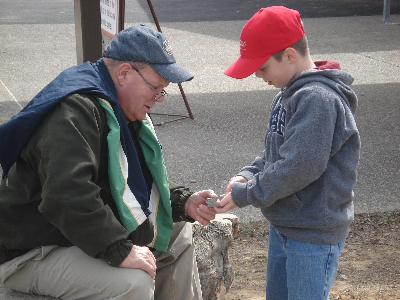 Whale and his grandson Denton