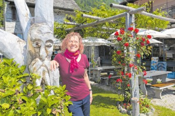 Marilena Perozzi, gerente del Ristorante alpino.