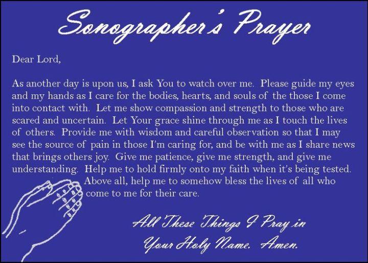 Sonographers prayer