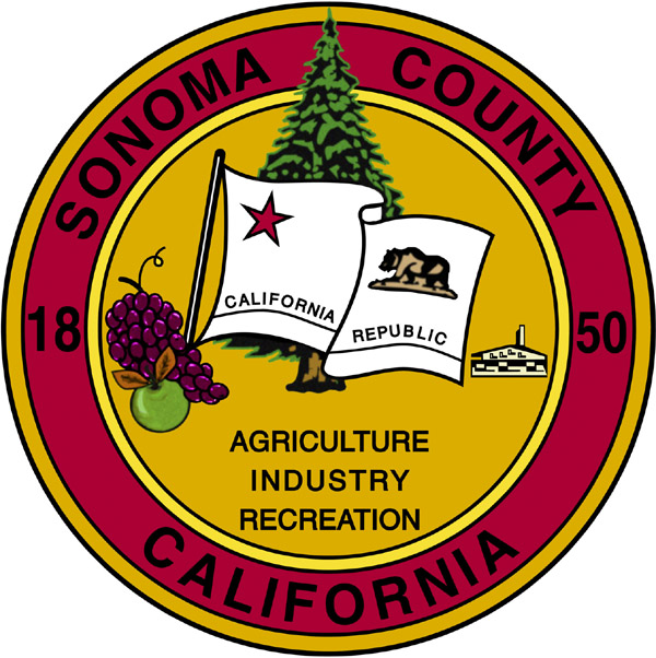 Click here to visit sonomacounty.ca.gov. Sonoma County Seal 'Agriculture, Industry, Recreation'