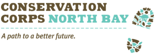 """Conservation Corps North Bay Logo """"A Path to a better future"""""""