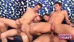Hot Gays Having An Orgy