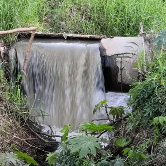 drenaje en el arroyo Jabalines
