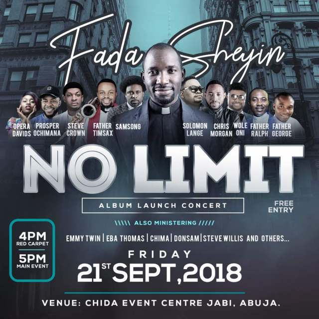 Fada Sheyin Set To Launch New Album No Limit With Concert! Sept. 21st