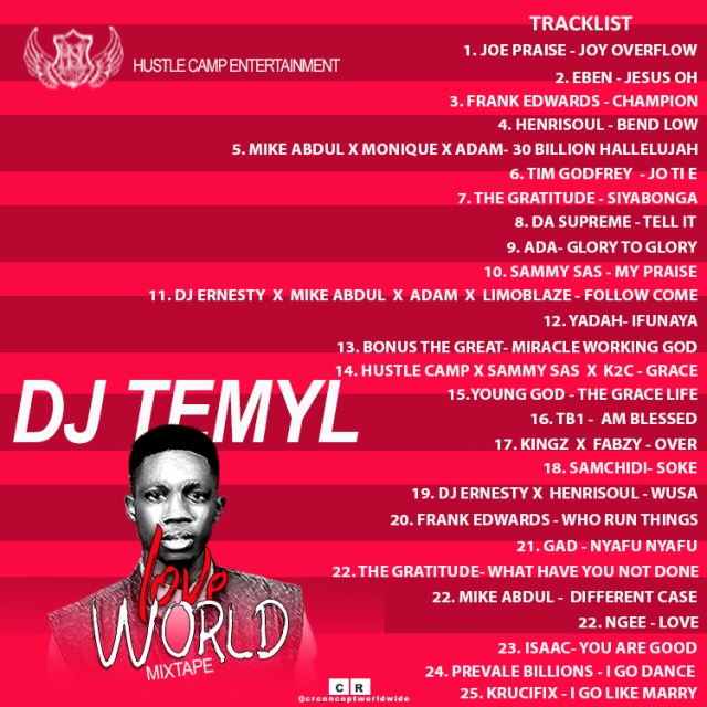 DJ Temyl - Love World Mixtape Free Gospel Mixtape Download