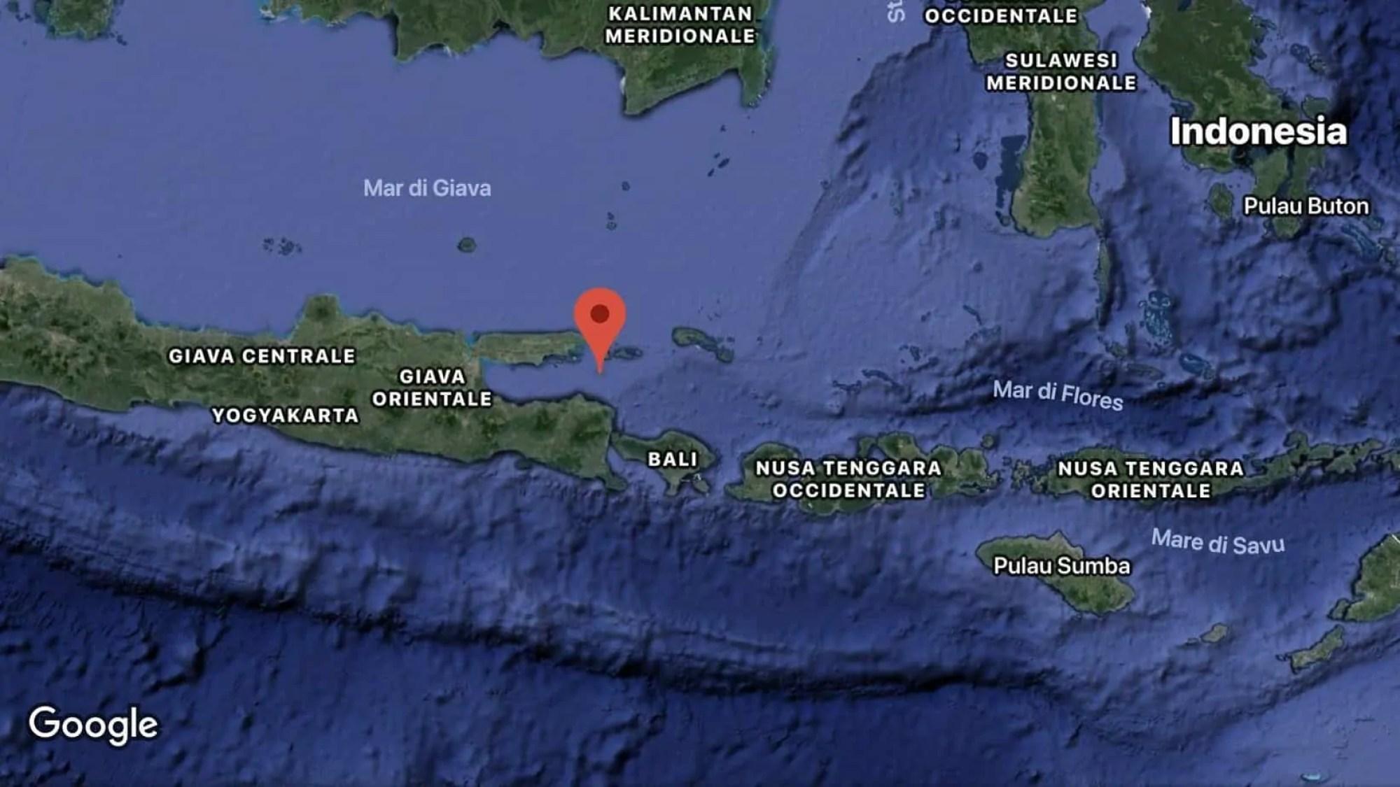 Nuova scossa di terremoto a nord di Bali