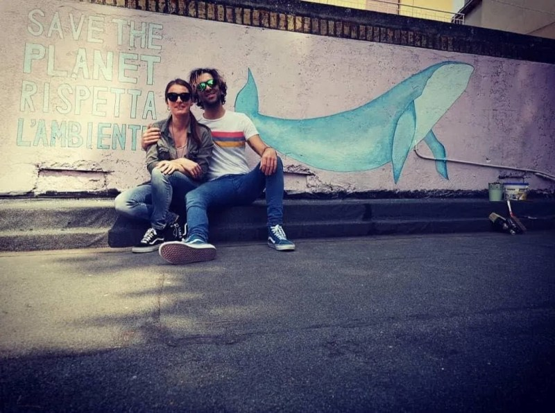 Whale murales ... Save the planet