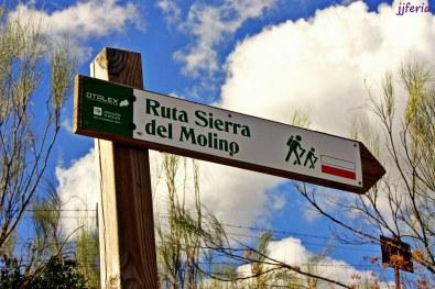 Indicador de la ruta Sierra del Molino