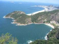 The bigger beach is Cobacabana