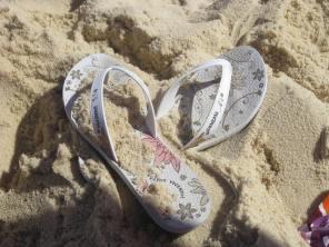 Ipanema flip flops in Ipanema beach