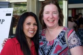 Hannah and Lisa at the Honor Reception May 3 2013