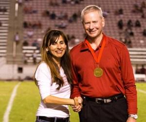 100 start Bill Baker with Sonya Christian