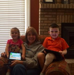 cindy collier with grandkids