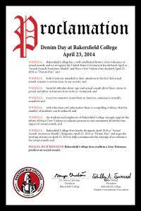 2014 Denim Day Proclamation