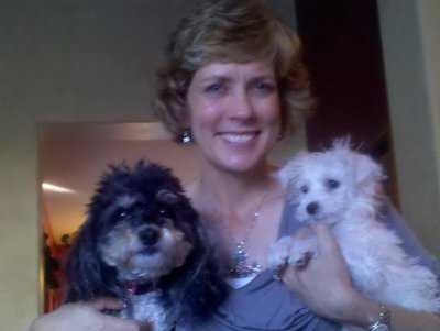 Cheryl Scott with Sandi and Scruffy Facebook picture
