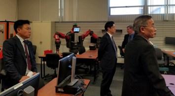Korean Delegation in Robotics class Oct 15 2017