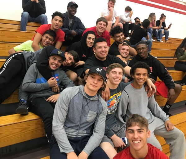 Wrestling Team out to support Renegade Volleyball Nov 10 2017.jpg