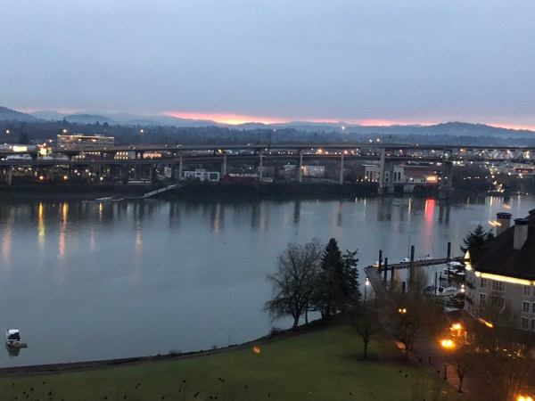 Sunrise in Portland Jan 7 2018