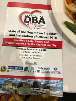 Downtown Business Association Breakfast Flyer
