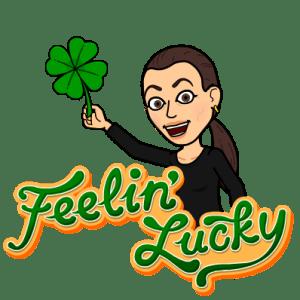Sonya Christian Bitmoji Feeling Lucky