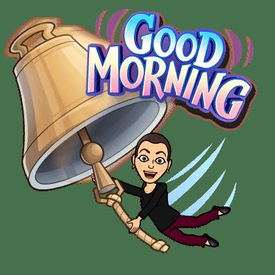 Sonya Christian Bitmoji Good Morning