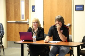 Liz Rozell and Steven Holmes at Budget Forum