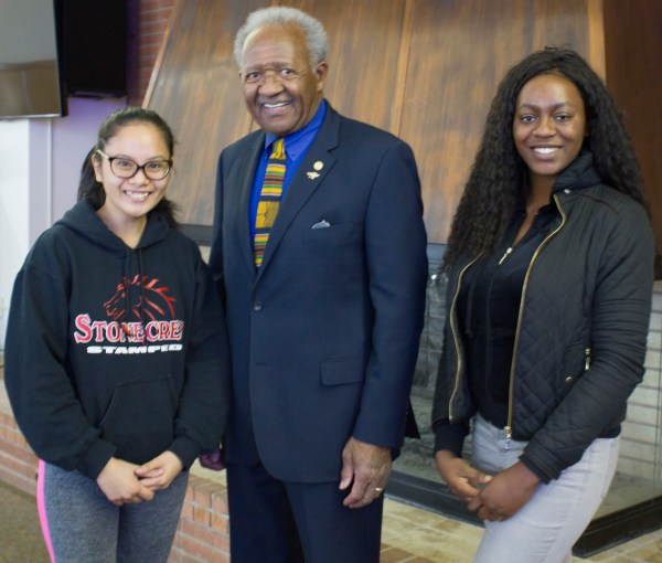 Dr. Horace Mitchell and BC Students