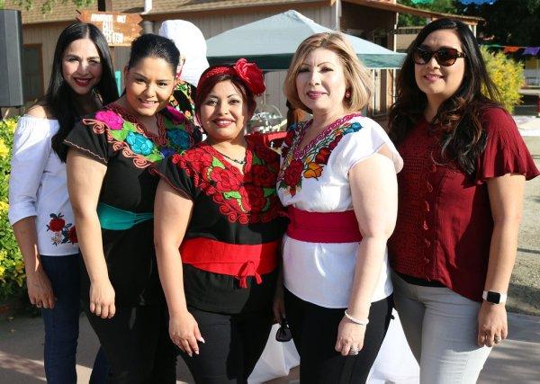 Rosalinda Rivera (DUESD Superintendent), BC Staff Alma Feathers, Carolina Madrigal, Raquel Lopez, Valerie Alcala.