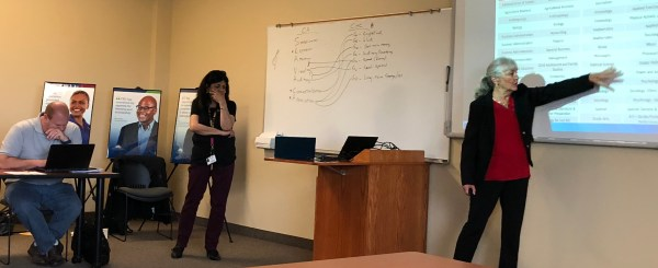 Janet Fulks and Khushnur Dadabhoy presenting transfer pathways.jpg
