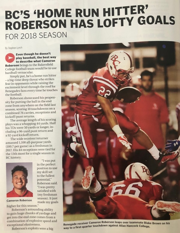 August 25 2018 Bakersfield Life Football
