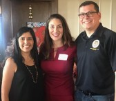 Andrea at the Democratic Women event with Rudy Salas and Marisol
