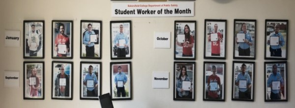 Public Safety Student Employment Wall