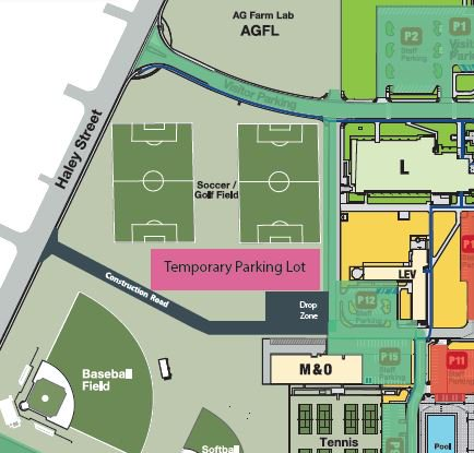 Temporary parking map
