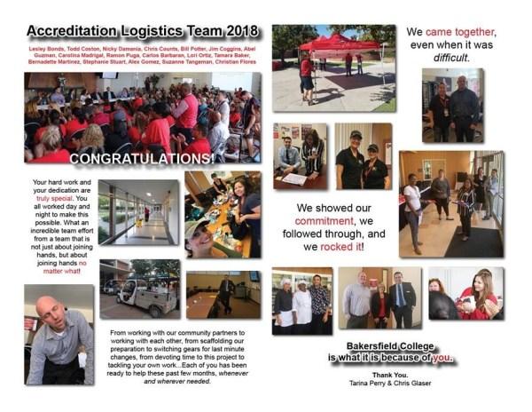 Accreditation Logistics Team