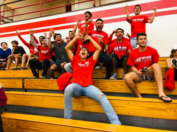 Soccer team supporting Volleyball Photo 1