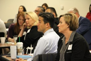 Attendees listening intently