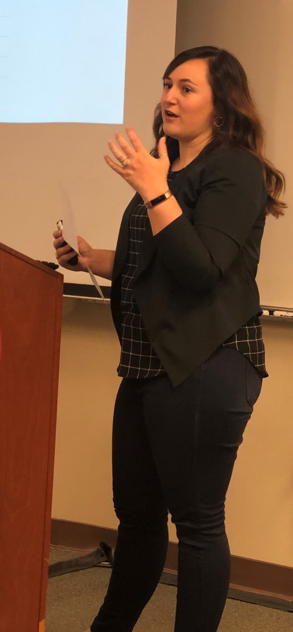 Katherine Makaiwi presenting at College Council