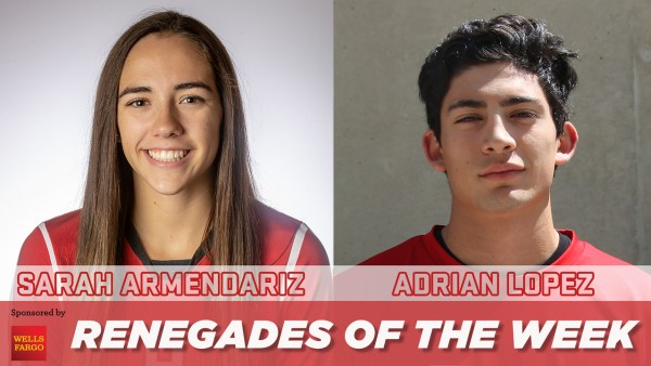 Renegades of the week Sarah Armendariz and Adrian Lopez