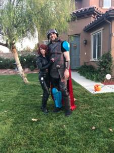 Jennifer Garrett and Matt GArrett Halloween 2018