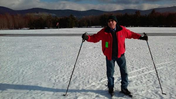 Jack Hernandez in skis